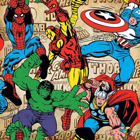 marvel wallpaper for bedroom marvel comics wallpaper and borders spiderman hulk more