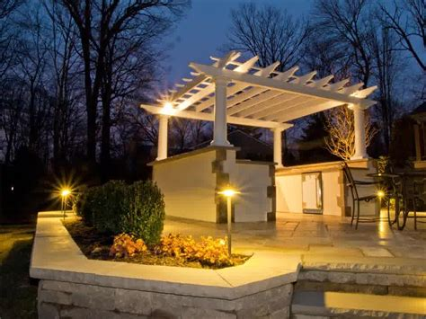 simple pergola lighting ideas invisibleinkradio home decor