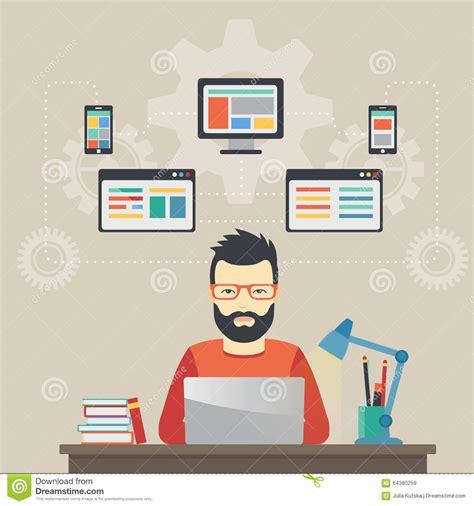design concept software engineering man software engineer concept with design optimization