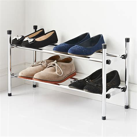 Ausziehbarer Schuhschrank by Extendable 2 Tier Shoe Rack Storage Furniture B M Stores