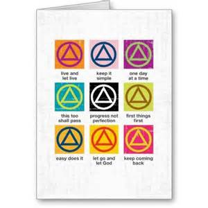 a a slogans greeting card recovery cards alcoholics anonymous gifts greeting