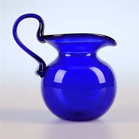 Blue Glass antiques atlas bristol blue glass jug