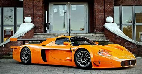 orange maserati maserati mc12 corsa in orange transportation cars