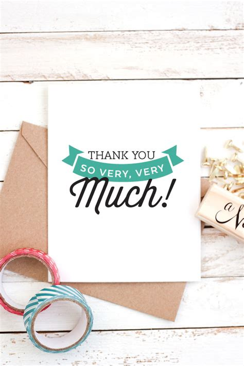handwritten thank you card template free printable thank you cards