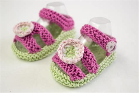 knitted baby sandals free pattern baby shoe knitting patterns