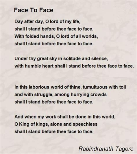 rabindranath tagore biography and works search texts face to face poem by rabindranath tagore poem hunter