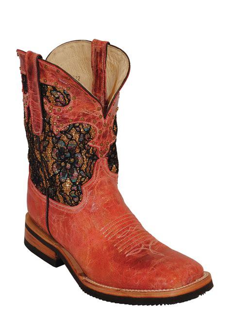 womens ferrini cool stud cowhide leather