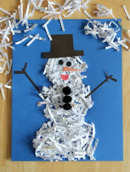 Paper Winter Crafts - snowman crafts for