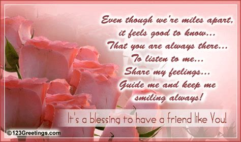 message for friend for a friend who s a blessing free between friends