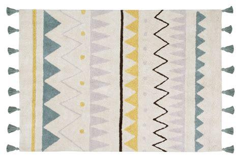 waschbarer teppich canals waschbarer teppich azteca creme blau