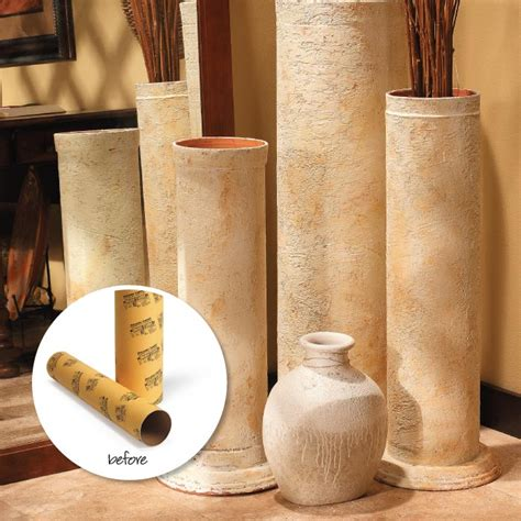 decorative columns home depot diy decorative faux stone columns made from cardboard