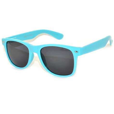light blue lens sunglasses owl 174 eyewear retro sunglasses smoke lens light blue frame
