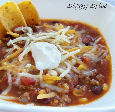 siggy spice taco soup