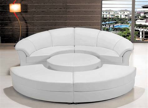 circle couch bed modern white leather circular sectional sofa