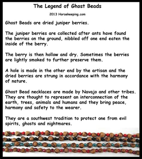 define ward off navajo ghost bead necklaces made from juniper berries