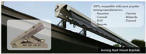 awning roof mount bracket glydea motorized draperies