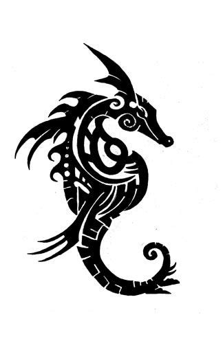 tribal seahorse tattoo 1000 images about seahorse on traditional