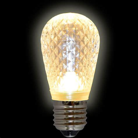 crystal clear light bulbs sun warm white led s14 crystal cut faceted light