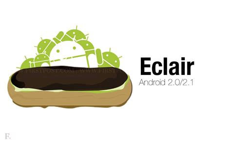 android eclair list of android versions mobile history