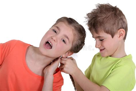 pix brother pulling sister pubic hair brother pulling sister s hair stock image image of