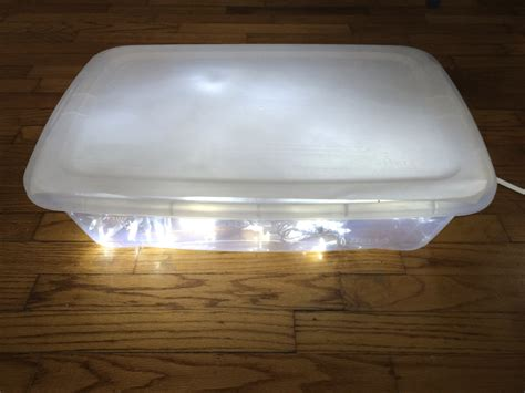 Handmade Light Box - diy light table light play explorations sturdy for