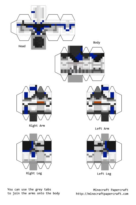 Minecraft Papercraft Wars - papercraft captain rex