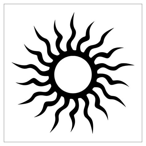 sun sign tattoo designs sun free design