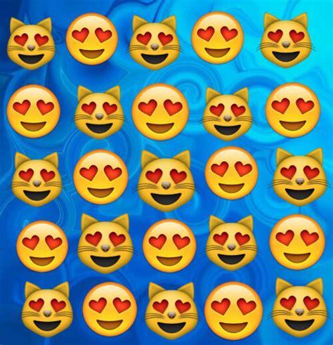 cat emoji wallpaper heart eye emojis we heart it blue cat and backgrounds