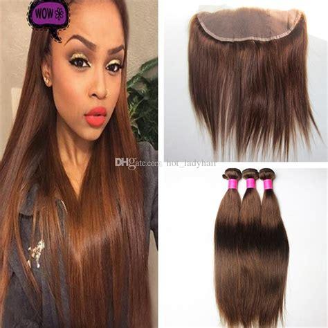 color 4 hair color 4 medium brown hair bundles with