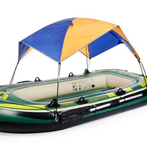 fishing boat sun canopy inflatable boat tent sun shelter 3 4 person fishing boat