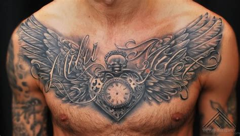 wing tattoo on chest 98 magnificent chest
