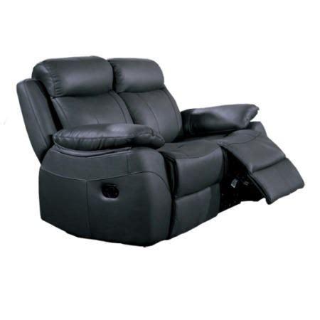 Alessia Leather Sofa Furniture Link Alessia Black Leather 2 Seater Recliner Sofa Furniture123
