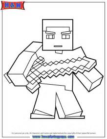 Sword In The Coloring Pages herobrine with sword coloring page minecraft coloring