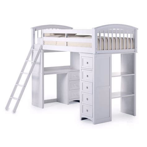 Bunk Bed With Storage And Desk Student Loft Bed Frame With Desk Storage Bunk Beds Workstation Ebay