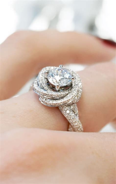 The Engagement by Modern Knot Edgeless Pav 233 Engagement Ring Ring