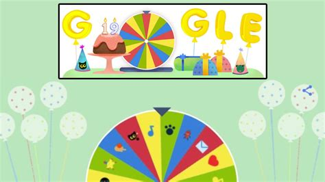 birthday spinner doodle spinner search engine celebrates