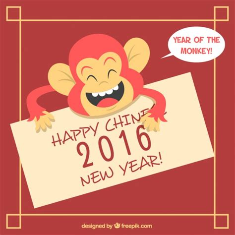 new year monkey free image illustrated monkey new year background vector free