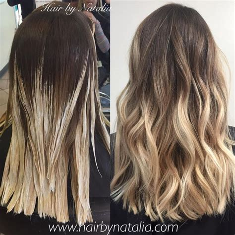 ombre bunette blonde brunette on bottom brown to blonde balayage ombr 233 beauty pinterest