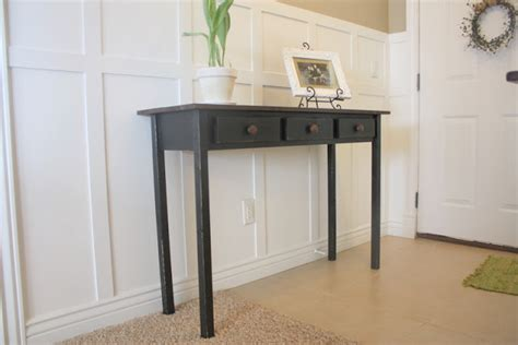Distressed Entryway Table Country Home Entry Table 2 Black Distressed Tutorial