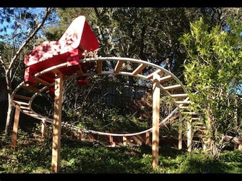 how to build a backyard roller coaster backyard pvc roller coaster finished track youtube