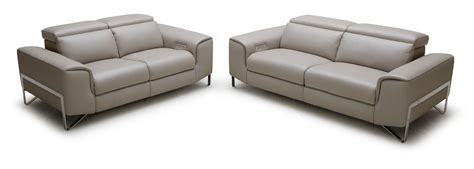 sofa set with recliner divani casa begonia modern taupe italian leather reclining