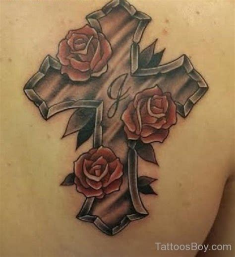 rose tattoo with cross the gallery for gt cross and