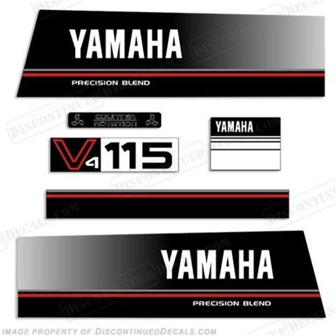 yamaha outboard motor decals for sale yamaha 115hp v4 precision blend outboard engine decal kit