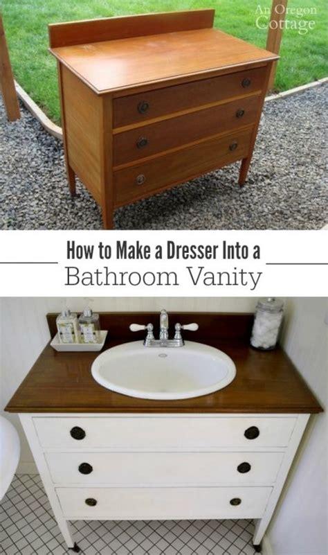 Diy Vanity Dresser by Best 25 Dresser To Vanity Ideas On Bathroom