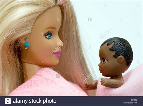 black doll for white child dolls illustrating white with black baby child