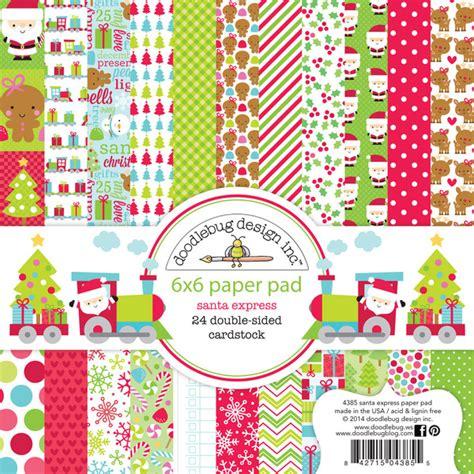 doodlebug design doodlebug design santa express 6 x 6 paper pad