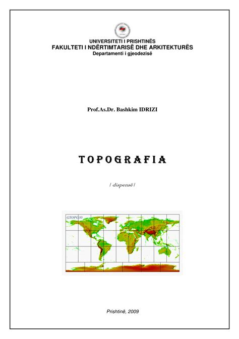 dispense pdf pdf topografia dispens 235 p 235 r student 235 t e gjeodezis 235