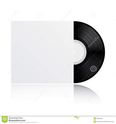 lp cover template vinyl record with cover stock vector image of equipment