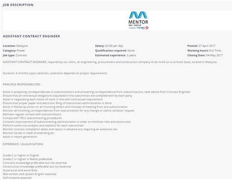 design engineer job vacancy selangor oil gas vacancies assistant contract engineer mentor