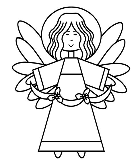 preschool coloring pages angels angel coloring page christmas season nuttin but preschool
